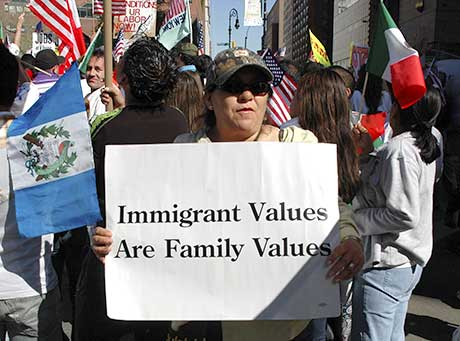 Day of Immigrants rally, Union Square, NYC, 2006