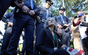 Jill Stein & Cheri Honkala under arrest at the 2012 Hofstra debate